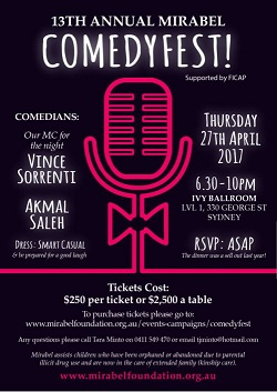NSW ComedyFest 2018 invite